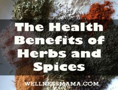 Guide to the Health Benefits of Herbs and Spices