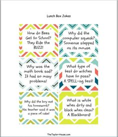 Back to School Lunch Box Jokes - Page 2 of 2