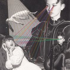 昨日発売のminiで鈴木えみちゃんの目から糸をだしてしまっています UFOにさらわれるえみちゃんと宇宙人になったえみちゃんです 昔の映画のポスターみたいにしたかったのです  ありがとうございました