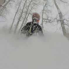@mercier4colorado doing his best impression of The Hunt for Red October. STILL so much #snow in #Colorado - if you couldn't tell by the video  Want shots like this? Snap on our #CGX2 action camera! @brp_monsters @skidooofficial