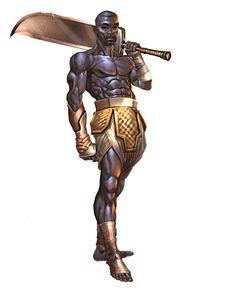 African warrior by Sakuseii on DeviantArt Orisha, Black Characters, Fantasy Characters, African American Art, African Art, Fantasy Warrior, Fantasy Art, Character Portraits, Character Art