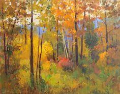 """Saatchi Art Artist Helmut Pete Beckmann; Painting, """"Autumn Woods"""" #art"""