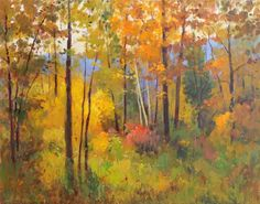 "Saatchi Art Artist Helmut Pete Beckmann; Painting, ""Autumn Woods"" #art"