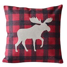 Antelope Cotton/Linen Decorative Pillow Cover – USD $ 14.99 #lightinthebox