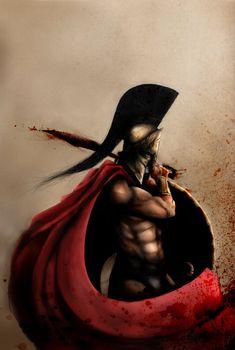 King Leonidas / 300 movie by Dogyfox