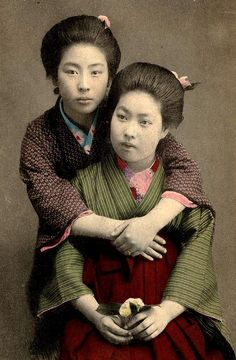FRIENDS -- Two Young Women of Old Japan by Okinawa Soba, via Flickr
