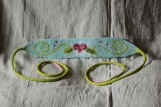 """felted feutre vilten belt Stirnbänder - Stirnband Haarband Gürtel """" Rose """"Filz gefilzt - ein Designerstück von Sternenfeuer bei DaWanda"""