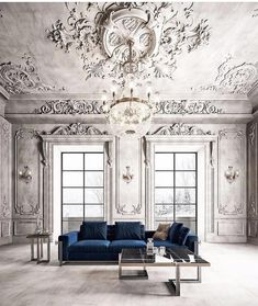 Friends, rate on an альной point scale an interior with such fantastic stucco molding (in . - Home Design Luxury Homes Interior, Luxury Home Decor, Interior Architecture, Architecture Plan, Living Room Designs, Living Room Decor, Living Area, Decor Interior Design, Interior Decorating