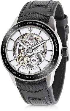 Maserati Corsa Stainless Steel Automatic Skeleton Men's Watch
