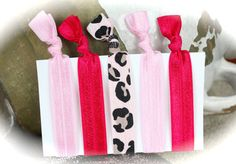 The  Glam Girl  Five Pk 5  A Mix of Leopard & Pinks by PlumPosh, $6.25