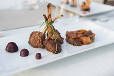 Lamb chops   Mikkel Paige Photography + @thelandings1   see more on: http://burnettsboards.com/2015/06/st-lucia-destination-wedding/