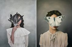 Inspired by mythology and the relationship between women and birds, Amy Judd shrouds her work in mystery. And yet, each piece is so enchanting and calm . . . and just beautiful, of course.