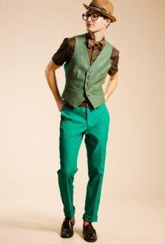 Trina Turk   color men style Triston Trouser