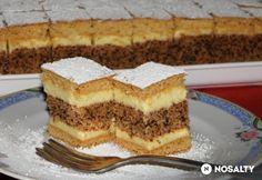 Hungarian Desserts, Hungarian Recipes, Poppy Cake, Cake Bars, Cake Cookies, Tiramisu, Recipies, Panna Cotta, Cheesecake