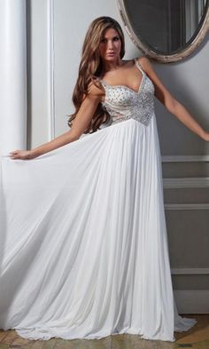Chiffon A-line Straps Long Formal Dresses FSAU1409P800648 - formalsydney.com