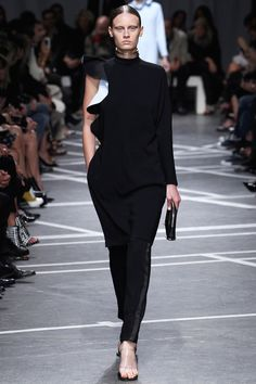 givenchy spring 2013- a great way to show case the bare arm with contrast ruffle!