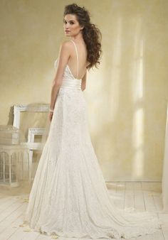 Not my usual style, but really elegant and pretty.    Modern Vintage By Alfred Angelo Wedding Dresses - The Knot
