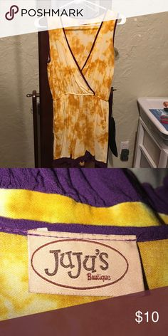 Purple and Gold Romper purple and gold romper perfect to wear to an LSU game💜💛 JuJu Other