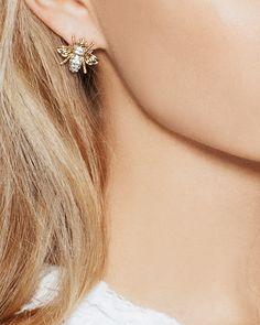 Honey Bee Earrings. Love.