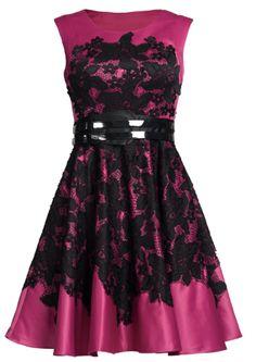 Tamikia Fuchcia Fit and Flare Dress