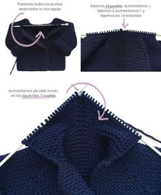 Diy Crafts - Hello my friends. Today I want to share with you this video tutorial of how to crochet a lovely baby peacoat. Baby Knitting Patterns, Knitting For Kids, Easy Knitting, Knitting Stitches, Baby Patterns, Crochet Patterns, Crochet Baby, Knit Crochet, Diy Crafts Knitting