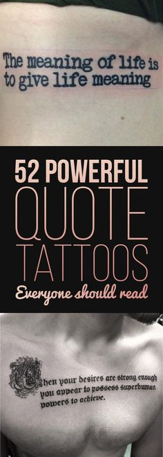 52 Powerful Quote Tattoos Everyone Should Read   TattooBlend