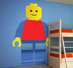 Your kid is a lego fan? Get this fantastic sticker and light up your childs eyes! #tenstickers #tenvinilo #stickers #decoration #lego #DIY #decor #home #house #kids #children #bedroom #wall #art #wallsticker