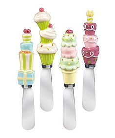 Love these Grasslands Road Cupcake Handle Spreaders on #zulily! #zulilyfinds #GrasslandsRoad #GiftIdea #Kitchen #Home #Decor #Ceramic