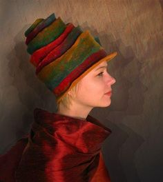 Judit Pocs hand felted high cloche #millinery #judithm #hats