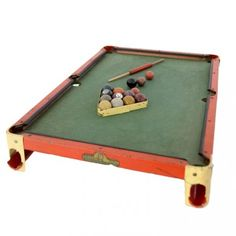 Den Ricks Junior Pool Table U0026 Small Clay Balls By CollectionSelection, SOLD  | Vintage Toys | Pinterest | Pool Tables, Pool Table And Pools
