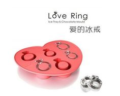 Creative Ice mould,Silicone ice box, Love ring ice tray