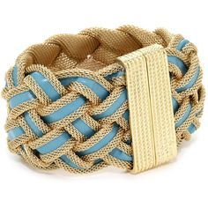 RAIN Gold and Turquoise Braided Bracelet ($105) found on Polyvore