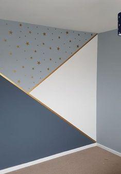 Progress in kindergarten, # progress - Baby Room DIY - Babyzimmer Baby Bedroom, Baby Boy Rooms, Baby Room Decor, Bedroom Decor, Star Bedroom, Room Wall Painting, Room Paint, Wall Paintings, Girl Bedroom Designs