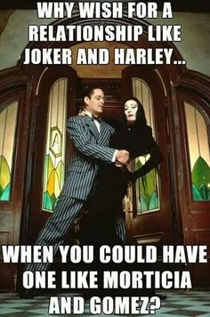 """Anjelica Huston (July 1951 - ) as Morticia Addams and Raul Julia (March 1940 - October as Gomez Addams """"The Addams Family"""", 1991 Colin Morgan, The Addams Family, Addams Family Baby Costume, Adams Family Morticia, Addams Family Quotes, Halloween Movies, Halloween Kostüm, Halloween Costumes, Halloween Tricks"""