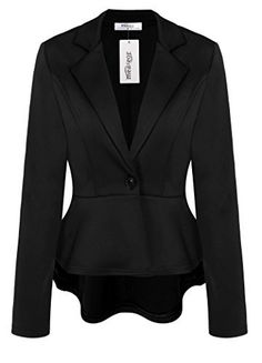 #womensfashion Meaneor Women's Crop Frill Shift Slim Fit Wear to Work Peplum Blazer Jacket Coat: If you are thinking of… #womensclothing