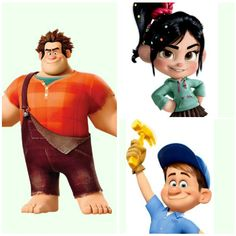 12 Disney Costume Ideas for Siblings or Couples:    I totally want to do Ralph & Glich :)