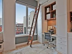Closet Office Ideas on a Budget - Great ideas for small spaces and I see lots of Ikea furniture!