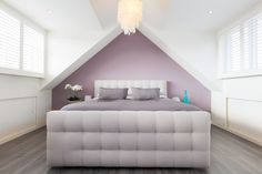 Shutters op slaapkamer met dubbele dakkapel