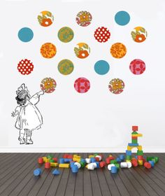 Children's Wall Decal. Wall Stickers. Colorful geometric circles on Etsy, $100.00