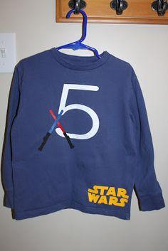 Keeping it Simple: Star Wars Birthday Shirt