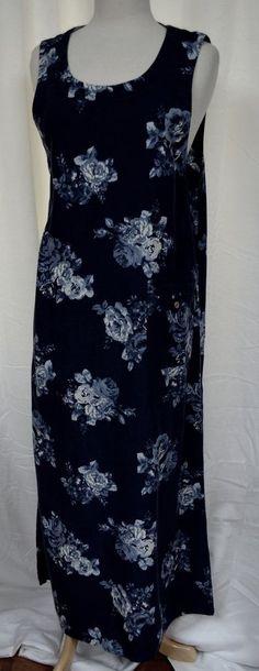 Talbots Size 8 Rose Pattern Sleeveless Tencel Dress Long A-Line Front Pocket New #Talbots #Shift #WeartoWork