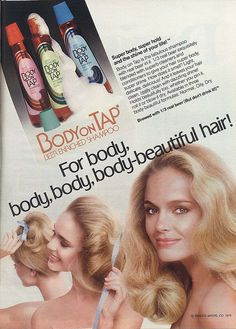Body on Tap Shampoo  Beer Shampoo... . Used it through High school.  Loved the smell of my hair.