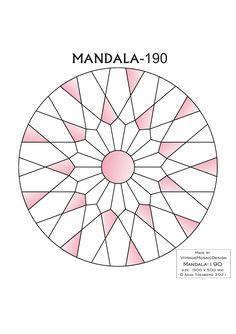 MANDALA-190 Stained glass pattern, Mosaic pattern, Painting glass pattern, to DOWNLOAD PDF, Suncatcher, Window panel, Window handing ויטראז by VitrageMosaicDesign on Etsy