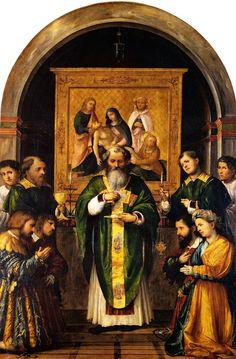 Girolamo Romani (Il Romanino), The Mass of Saint Apollonius, 1525