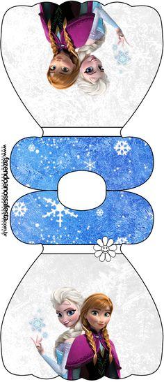 Convite Vestido Frozen Azul e Branco:
