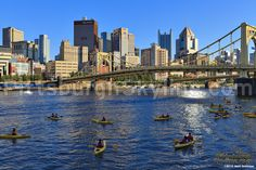 Kayaking on the Allegheny River in Pittsburgh