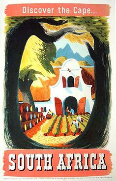 1950's Leng Dixon Vintage South Africa Travel Poster