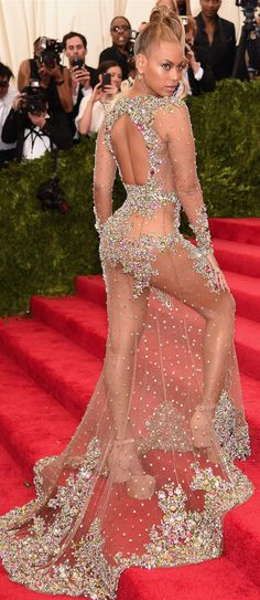 Beyonce in Givenchy Haute Couture 2015 Met Gala | House of Beccaria~
