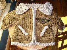 Ravelry: azshere's Aviator Jacket ✿⊱╮Teresa Restegui http://www.pinterest.com/teretegui/✿⊱╮