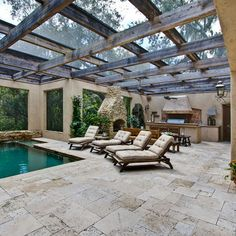 Classic Ivory Tumbled Pavers   Mediterranean   Patio   Tampa   Travertine  Warehouse   Love The Pavers!